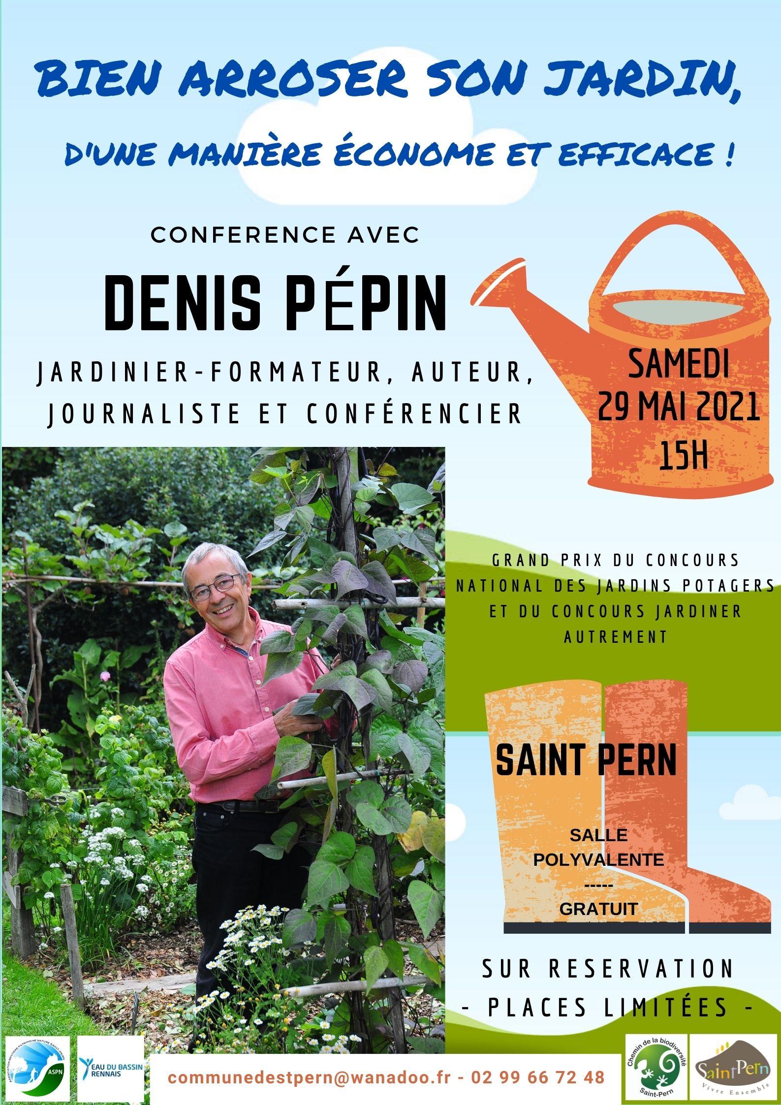 Conférence «Bien arroser son jardin, d'une manière économe et efficace»