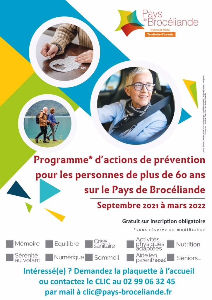 PROGRAMME D'ACTIONS DE PREVENTION POUR LES PERSONNES DE PLUS DE 60 ANS